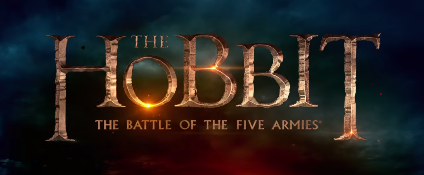 A title card that reads 'The Hobbit: The Battle of the Five Armies'.