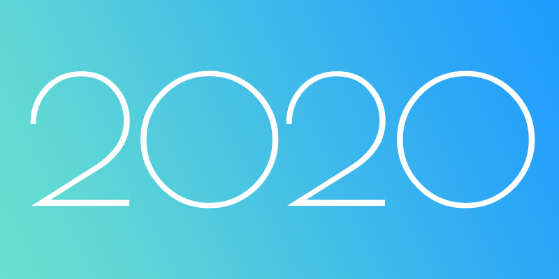 2020 emblazoned on a teal to blue gradient